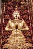 Vue d'un Viharn et d'un Stupa au temple bouddhiste historique de Wa Photos libres de droits