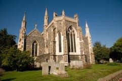 Vue d'une église de Douvres Images stock