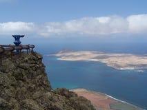 Vue d'une île canarienne d'un point d'avantage Images libres de droits