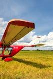 Vue d'une aile de l'avion ultra-léger Photos stock