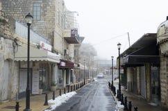 Vue d'une allée dans vieux Safed Photos stock