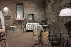 Vue d'une chambre à coucher médiévale, Pérouse Photographie stock