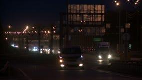Vue d'une circulation urbaine de soir?e clips vidéos