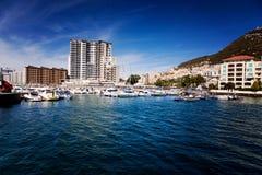 Vue d'une de la marina au Gibraltar Photographie stock libre de droits