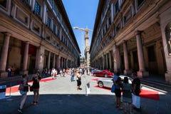 Vue d'une exposition extérieure publique de voiture d'oldtimer chez le Piazzale Photographie stock