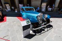 Vue d'une exposition extérieure publique de voiture d'oldtimer chez le Piazzale Images stock