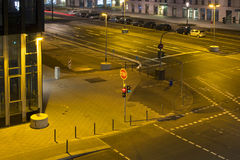 Vue d'une intersection Photographie stock
