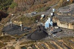 Vue d'une mine de charbon, Appalachia images stock