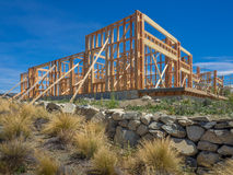 Vue d'une nouvelle maison en construction Photo stock