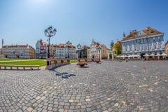 Vue d'une part chez Union Square dans Timisoara, Roumanie Photographie stock
