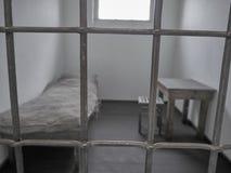 Vue d'une prison au camp de concentration de Sachsenhausen image stock