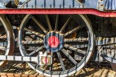 Vue d'une roue d'une locomotive Photos libres de droits