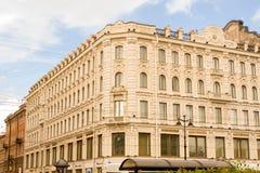 Vue d'une rue à St Petersburg Images stock