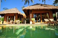 Vue d'une station de vacances en Thaïlande Photographie stock libre de droits