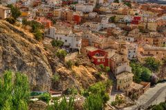 Vue d'une ville historique Photos stock