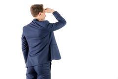 Vue d'usage d'homme d'affaires regardant loin images libres de droits