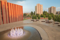 Vue dans Katowice, Pologne/paysage image stock