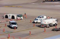 Vue dans l'aéroport de Zurich Photo stock