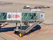 Vue dans l'aéroport de Zurich Image stock