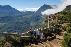 Vue dans l'intérieur de Reunion Island Image libre de droits