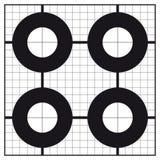 Vue-dans le cercle formé cible de tir de calibrage Photographie stock
