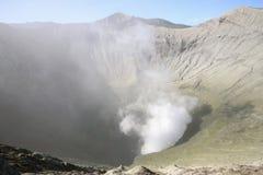 Vue dans le volcan de Bromo photographie stock