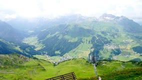 Vue dans Lech Valley dans Vorarlberg photographie stock libre de droits