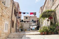 Vue dans les rues de Dubrovnik, Croatie Photos libres de droits