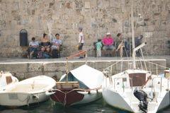 Vue dans les rues de Dubrovnik, Croatie Image stock