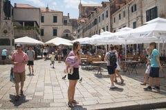 Vue dans les rues de Dubrovnik, Croatie Photographie stock