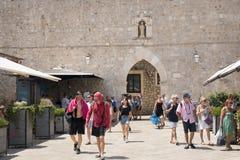 Vue dans les rues de Dubrovnik, Croatie Photos stock