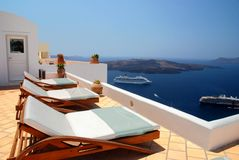 Vue dans Santorini Images libres de droits