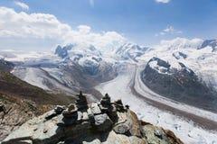 Vue dans Zermatt Photo stock