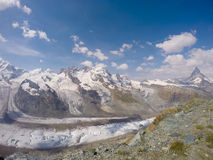 Vue dans Zermatt Photographie stock libre de droits