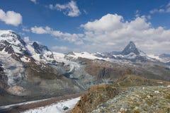 Vue dans Zermatt Image stock