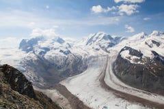 Vue dans Zermatt Photographie stock