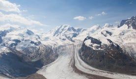 Vue dans Zermatt Images libres de droits