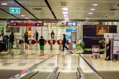 Vue de à l'intérieur de la liaison ferroviaire d'aéroport international de Suvarnabhumi Photo stock