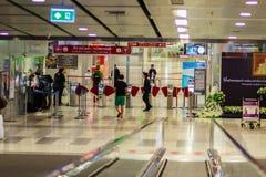 Vue de à l'intérieur de la liaison ferroviaire d'aéroport international de Suvarnabhumi Photographie stock