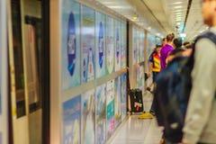 Vue de à l'intérieur de la liaison ferroviaire d'aéroport international de Suvarnabhumi Photos stock