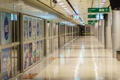 Vue de à l'intérieur de la liaison ferroviaire d'aéroport international de Suvarnabhumi Photos libres de droits
