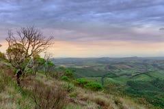 Vue de au-dessus de la montagne en parc d'Ibitipoca Images stock