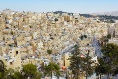 Vue de bâtiments d'Amman pendant le matin, Jordanie Image libre de droits