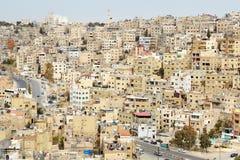 Vue de bâtiments d'Amman pendant le matin, Jordanie Photographie stock libre de droits