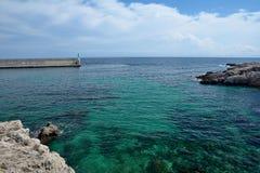 Vue de baie à Cala Ratjada Image stock