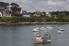 Vue de baie à Le Conquet (Frances) La côte ouest des Frances, le C Images libres de droits