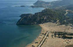 Vue de baie d'Archangelos photo stock