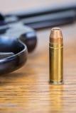 Vue de balle et de pistolet Images libres de droits