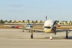 Vue de bandeau d'avions Photos stock