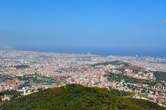 Vue de Barcelone Images libres de droits